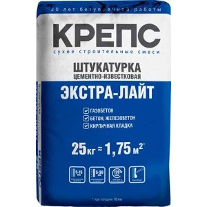 Штукатурка Крепс Экстра-лайт Зимняя