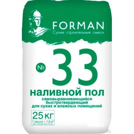 Наливной пол Forman 33