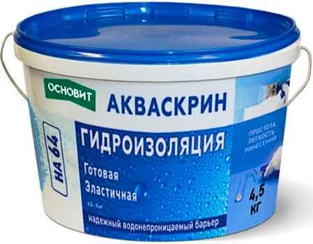 Гидроизоляция Основит Акваскрин НА64