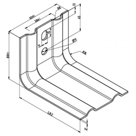 Кронштейн усиленный КРУ-2р-100 для вентилируемых фасадов