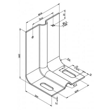 Кронштейн КР-С-250/90 для вентилируемых фасадов