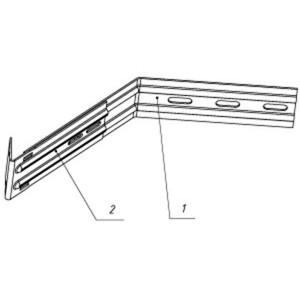 Кронштейн раздвижной угловой 260-320/70/200 L=360