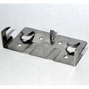 Кляммер стартовый угловой нержавеющий КГ AISI 430 скрытое крепление для керамогранита